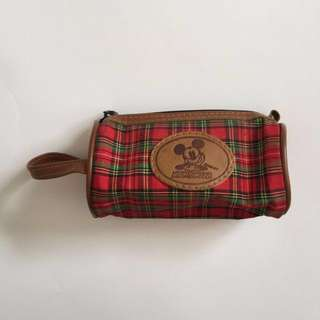 Mickey Mouse Small Case - Tartan Pouch