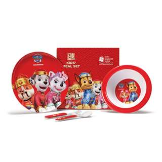 [BNIB] Paw Patrol kids meal set with 1 plate, 1 fork, 1 spoon and 1 bowl CNY 2018