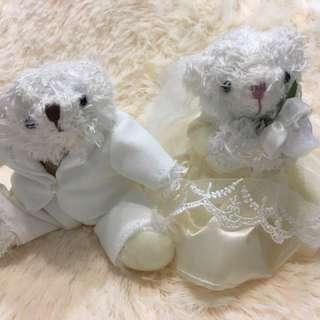 日本 全新婚禮小熊公仔(一對)