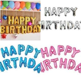 Party happy birthday foil aluminum balloon