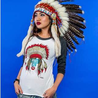 Check out our Tee and Warbonnet . Sold separately