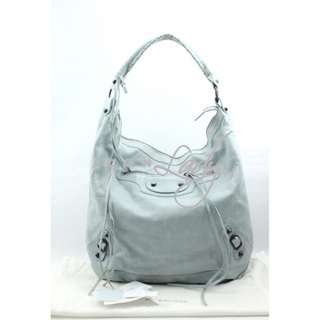 BALENCIAGA 140442 Classic Day 冰藍色 (Bleu Acier) 肩背袋 手袋