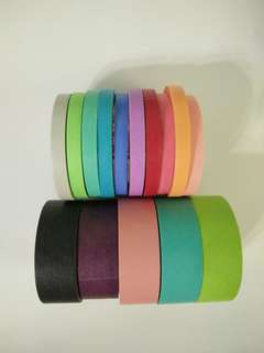 Solid coloured Washi tapes