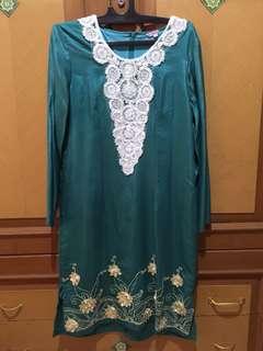 #MakinTebel Preloved Baju hijau renda berbunga
