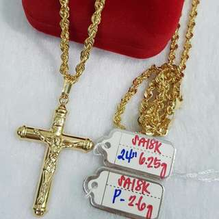 Mens 18k saudi gold necklace