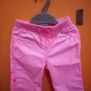Celana pendek anak warna pink