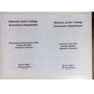 NJC Econs Answer booklet