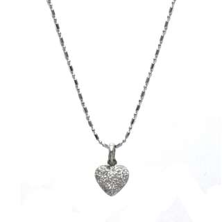 Just Jewels Necklace with Heart Pendant White Gold