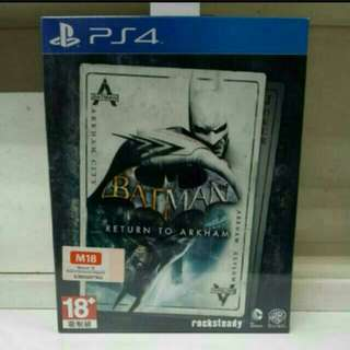 PS4 Batman Return to Arkham