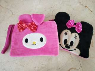 Melody and minnie mouse pouch
