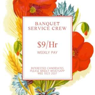 Part Time Banquet Server on SATURDAY