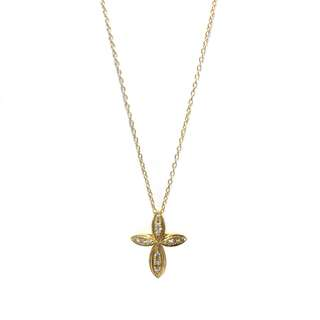 Just Jewels Necklace with Cross Pendant Yellow Gold