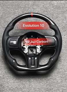 Mitsubishi Evolution 10 Carbon steering