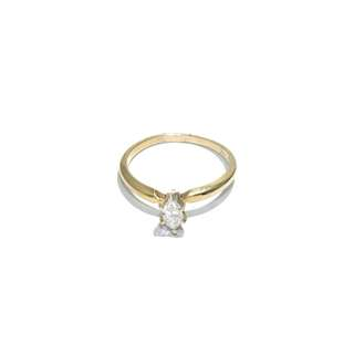 Just Jewels Marquise Diamond Ring Yellow Gold