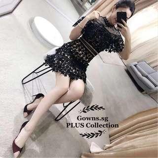 Star studded lace PLUS dress (L onwards)