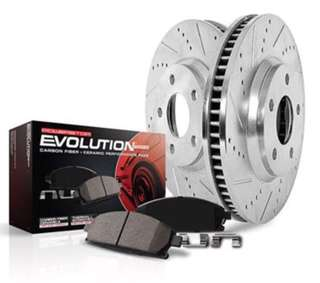 New in box , uninstalled - 1 - Click Z23 Evolution sport, Drilled  and Slotted Front Brake Kit