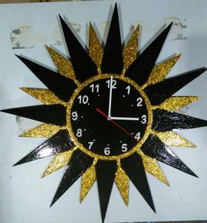 handmade decorative wall clock