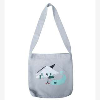Yizistore 什麼鬼系列-灰色釣魚帆布包