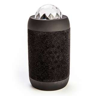Black Disco Ball Wireless Speaker Rechargeable Colours Lighting Powerful Sound