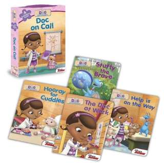 Brand New Doc McStuffins Doc On Call Board Book Box Set