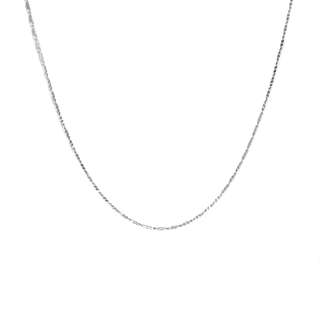 Just Jewels Chain Necklace White Gold