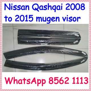 Nissan qashqai 2008 to 2015 mugen visor.