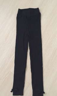 H&M Black Thick Footless Tights