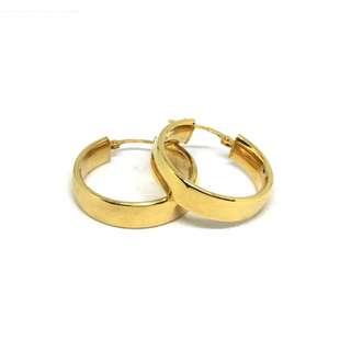 Just Jewels Hoop Earrings Yellow Gold