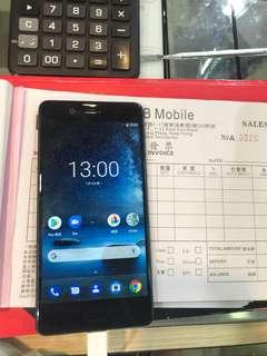 Nokia 8 95%新,一年店舖保養