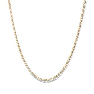 Just Jewels Anchor Chain Necklace Yellow Gold