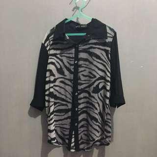 kemeja zebra