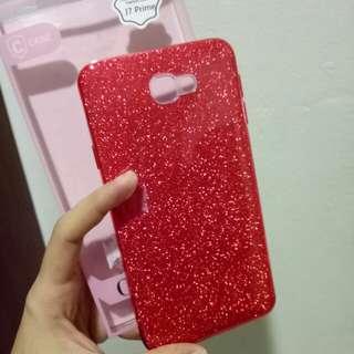 j7 prime glitter rubber hard case