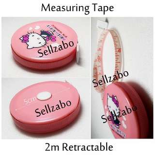 Pink HK Hello Kitty Retractable Measuring Measure Tapes 200cm Sellzabo