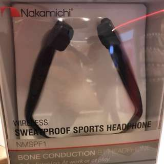Nakamichi Wireless Sports Headset (Sweat-proof)