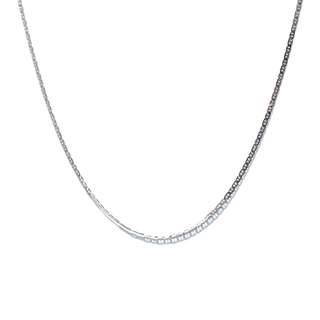 Just Jewels Mariner Chain Necklace White Gold
