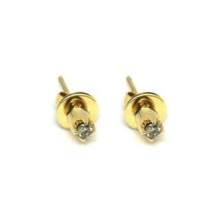 Just Jewels Push-pull Earrings with Diamonds Yellow Gold