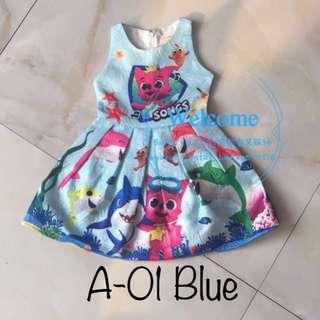 Ready Stock Baby Shark Dress