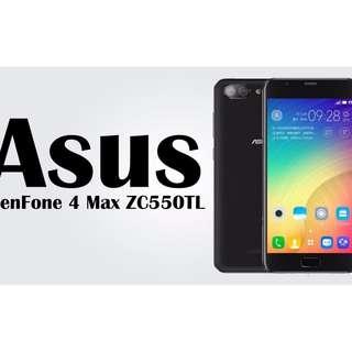 $20/1張 ASUS Zenfone 4 Max Plus ZC550TL高清防指紋9H 強化玻璃保護貼0.26mm 麗康墨盒