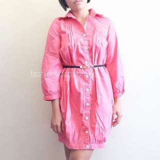 Pink Sleeved Dress