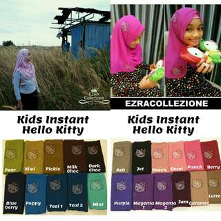 Kids Tudung Instant Shawl(Hello Kitty/Diamond Crown/Rose Patch/Bubble Chiffon)
