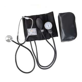 Professional Blood Pressure Measure Monitor Kit Stethoscope Travel w/ Pouch