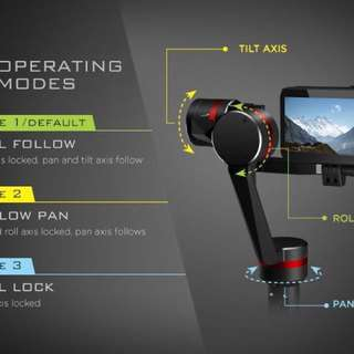 3-Axis Stabilizer for Smartphone and GoPro