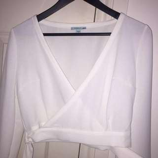 KOOKAI Wrap Top, White
