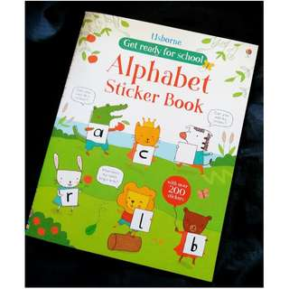 兒童貼紙遊戲書 usborne alphabet sticker book