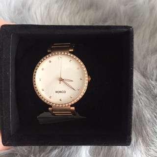 MIMCO 'Spiralette' Timepiece Rose Gold