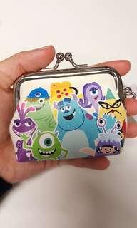 Disney Pixar 迪士尼彼思 怪獸公司 Monsters Inc 迷你散銀包 散紙包 coins bag 小銀包