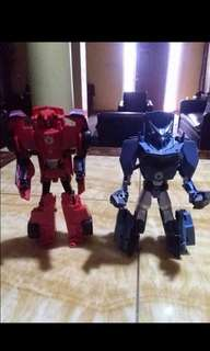 Transformer robot in disguise:sideswipe and steeljaw