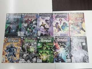 Blackest Night Green Lantern (2011 DC) Comics Set