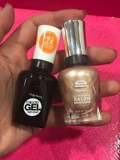 Nail polish with top coat