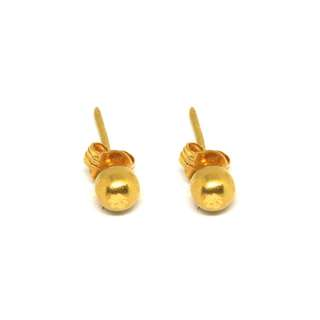 Just Jewels Push-pull Earrings Yellow Gold